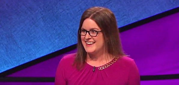 "Laura Ashby has become a national sensation of sorts on ""Jeopardy"" for her extended upward inflection"