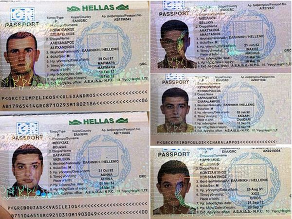 Syrians used fake Greek passports as they attempted to reach America through the U.S.-Mexico border (Photo: Twitter)
