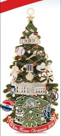 2015 White House Christmas Ornament honors 30th US President, Calvin Coolidge, 1923-1929