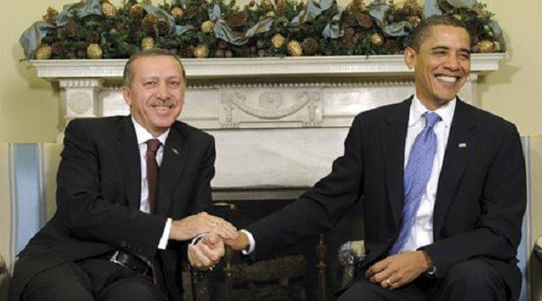 Presidents Erdogan of Turkey, Obama of U.S., at a December 2015 meeting in the White House.
