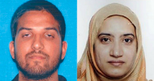 Syed Farook (left) and wife, Tashfeen Malik (right)