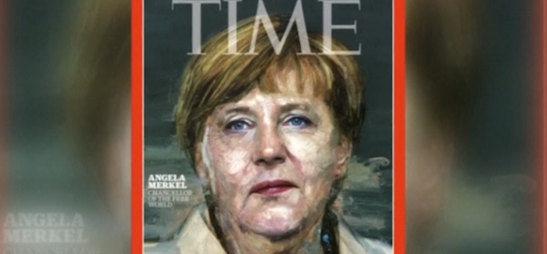 "German Chancellor Angela Merkel was deemed Time magazine's 2015 ""Person of the Year"" for her handling of the Syrian refugee crisis."