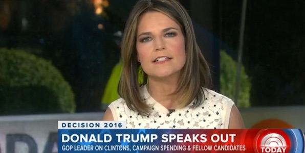 "NBC News'  Savannah Guthrie was corrected by Donald Trump when she said former Bill Clinton's affair with Monica Lewinsky was ""alleged."""