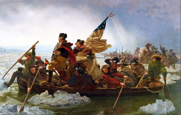 """Washington Crossing the Delaware"" by Emanuel Gottlieb Leutze"