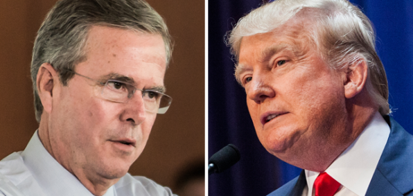 Jeb Bush and Donald Trump traded fiery barbs at the New Hampshire debate.