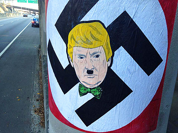 Swastikas featuring Donald Trump have been popping up in Atlanta (WGCL-TV)