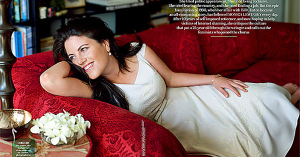 Monica Lewinsky in the May 8, 2014, issue of Vanity Fair