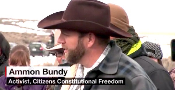 Rancher Ammon Bundy, has led protesters at the Malheur National Wildlife Refuge since Jan. 2 (Photo: CNN screenshot)