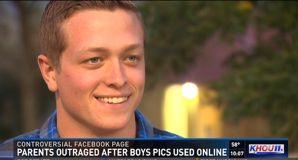 Brett Johnson's picture was taken by a stranger and posted on 'Beautiful Boys Around the World.' (Photo: KHOU 11 screenshot)