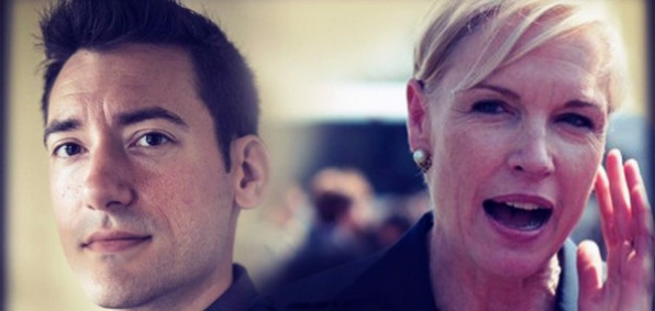 Center for Medical Progress' David Daleiden (left) and Planned Parenthood President Cecile Richards (right) (Photo: Twitter/#IStandWithDavid)