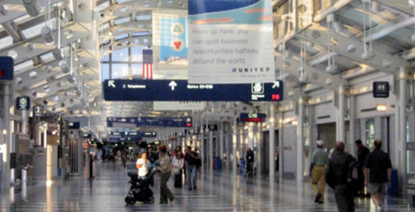 Chicago's O'Hare airport (Credit: Wikipedia)
