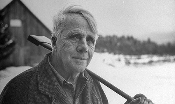 What is the central theme of Robert Frost's