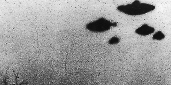 The skies over Sheffield, England, in 1962. (Credit: CIA files via Twitter)