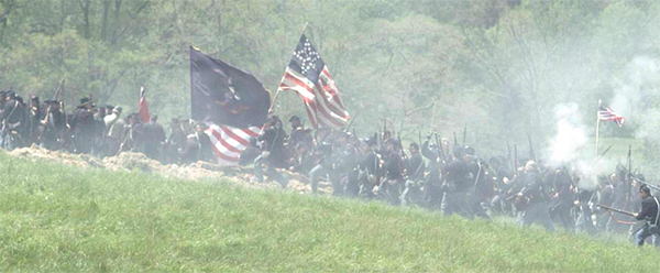 Thousands of  Civil War re-enactors help with filming of battle scene in 'Union Bound' (Photo: Facebook)