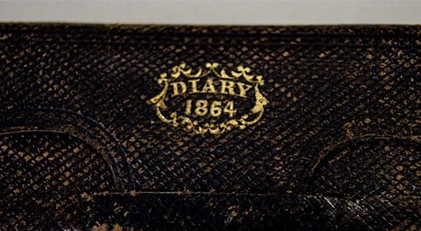 Joseph Hoover's diary from 1864 (Photo: Facebook)