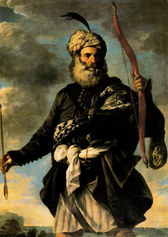 """A Barbary Pirate"" by Pier Francesco Mola, 1650"