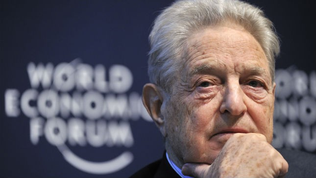 George Soros at World Economic Forum in Davos, Switzerland.