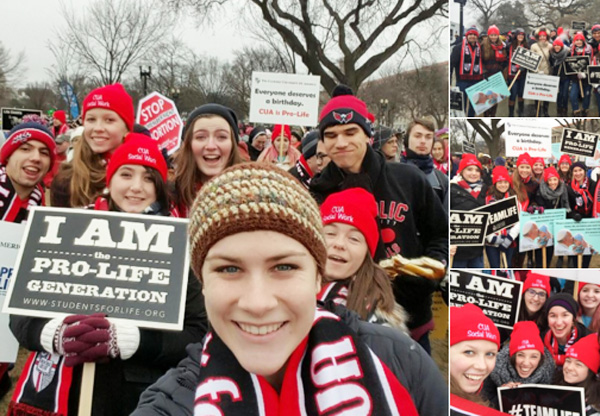 Catholic University of America students 2016 March for Life (Photo: Twitter)