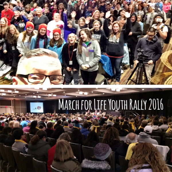 March for Life youth rally held Jan. 21, 2016 (Photo: Twitter/Bryan Kemper)
