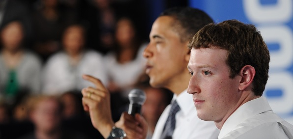 Barack Obama and Facebook CEO Mark Zuckerberg