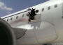 A Daallo Airlines airplane had a hole ripped through it in an explosion (Credit: twitter)