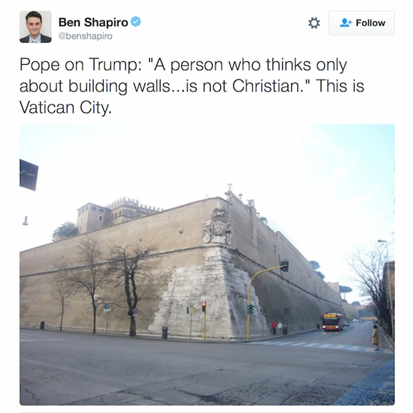 Ben Shapiro Pope Tweet