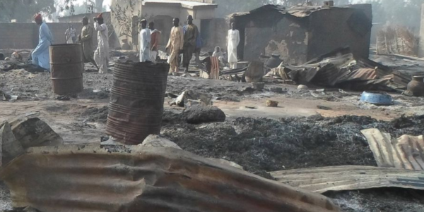 The aftermath of a Boko Haram attack.