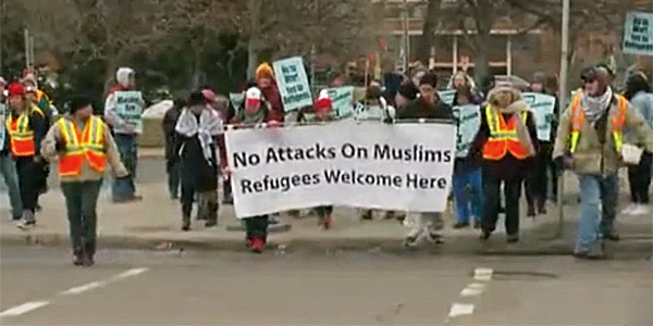 "Saturday's rally against ""Islamophobia"" (Photo: Screenshot)"