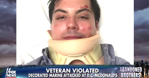 Marine veteran Christopher Marquez was was attacked at a McDonald's in Washington D.C., after teens asked him about the Black Lives Matter movement