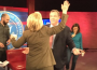 Chris Christie reaches out to Hillary Clinton on the CNN stage. (Credit: Twitter)