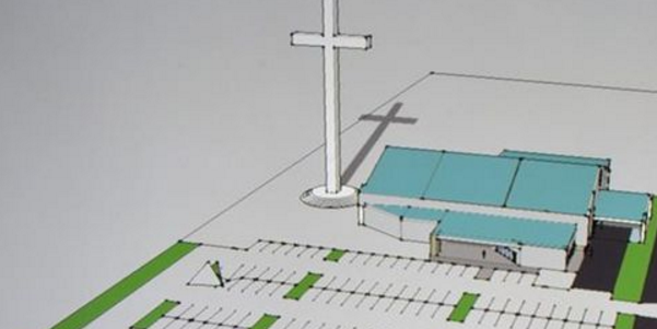 A rendering of the cross that's set for construction in Corpus Christi.