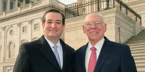 Sen. Ted Cruz and father, Rafael Cruz (Photo: Twitter)