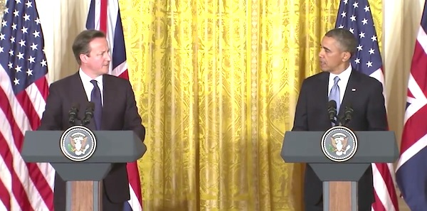 David Cameron (left) and President Obama (right)