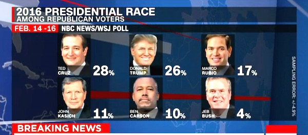 GOP primary poll Feb