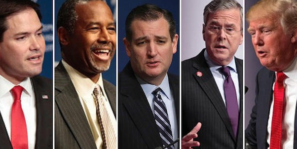 Seven Republican candidates met for their eighth debate in New Hampshire.