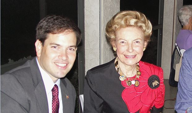 Phyllis Schlafly meeting with Marco Rubio before his move into Senate (Image courtesy Phyllis Schlafly)