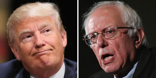 GOP front-runner Donald Trump and Democrat candidate Bernie Sanders (Photo: Twitter)