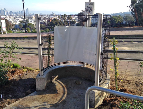 San Francisco's open-air urinal (Photo: Twitter)