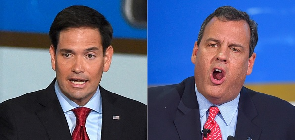 Marco Rubio and Chris Christie traded barbs at the debate in New Hampshire.