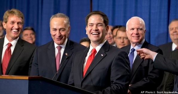 Sen. Marco Rubio, R-Fla., with the Gang of Eight.