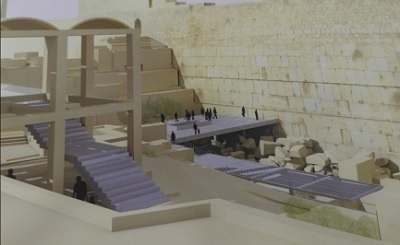 Artist conception of proposed mixed-gender prayer site at the Western Wall