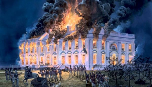 British burning White House during War of 1812