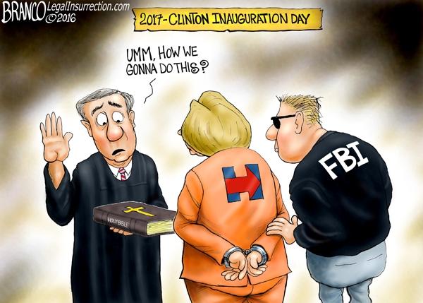 Hillary in handcuffs