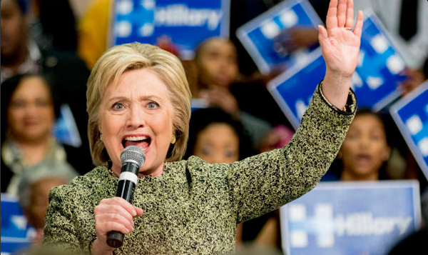 Democrat front-runner Hillary Clinton (Photo: Twitter)