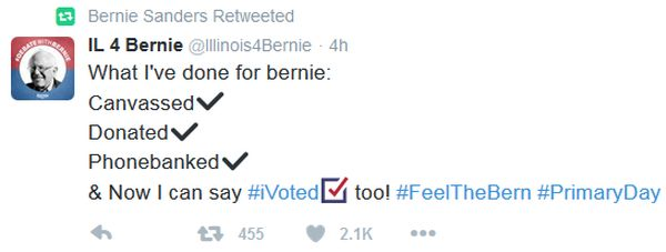 Mini Super Tuesday primaries 3-5-16 Bernie tweet #2