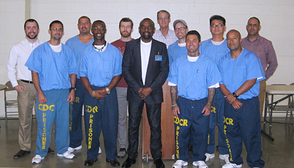 Rev. Jesse Lee Peterson takes message of forgiveness to Valley State Prison (Courtesy photo: Rev. Peterson)