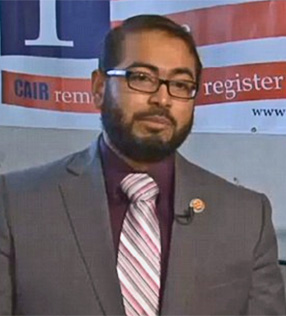 Faizan Syed, executive director of the St. Louis Chapter of the Council on American Islamic Relations (Photo: KMOV-TV screenshot)