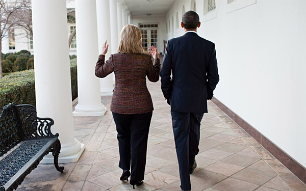 Hillary Clinton and President Barack Obama at the White House (Photo: White House)