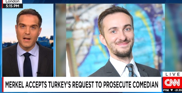 German Chancellor Angela Merkel has authorized a criminal investigation into comedian Jan Böhmermann over a joke he told about Turkish President Recep Tayyip Erdogan