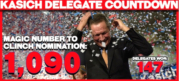 Radio host Rush Limbaugh has used Ohio Gov. John Kasich's delegate count to highlight the absurdity of his continued presidential campaign (Photo: RushLimbaugh.com screenshot)
